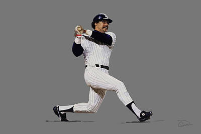 Yankee Stadium Digital Art - Reggie by Charley Pallos