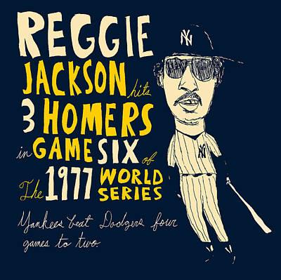Ny Yankees Painting - Reggie Jackson New York Yankees by Jay Perkins
