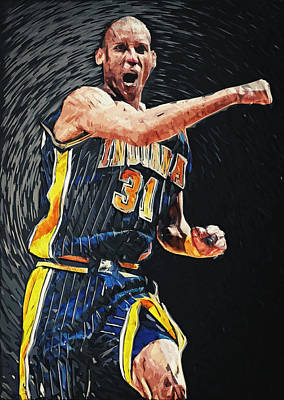 Champion Digital Art - Reggie Miller by Taylan Apukovska