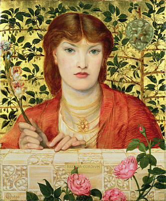 Auburn Painting - Regina Cordium Alice Wilding, 1866 by Dante Gabriel Charles Rossetti