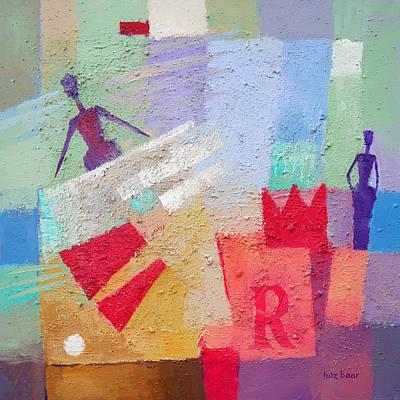 Reginae Painting - Regina by Lutz Baar