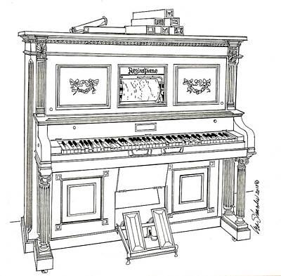 Regina Player Piano Art Print by Ira Shander