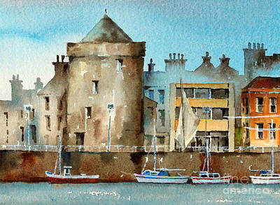 Painting - Reginalds Tower  Waterford by Val Byrne