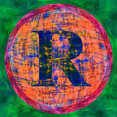 Digital Art - Registered Trademark R In Circle by Gregory Scott