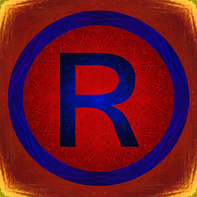 Photograph - Registered Trademark Symbol by Gregory Scott