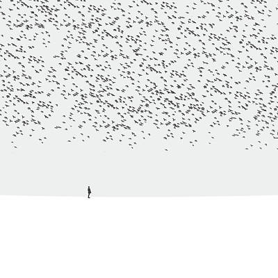 Tiny Bird Photograph - Regret by Hossein Zare