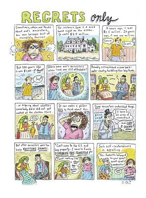 Etc Drawing - Regrets Only by Roz Chast
