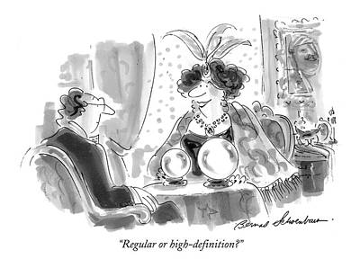 Regular Or High-definition? Art Print by Bernard Schoenbaum