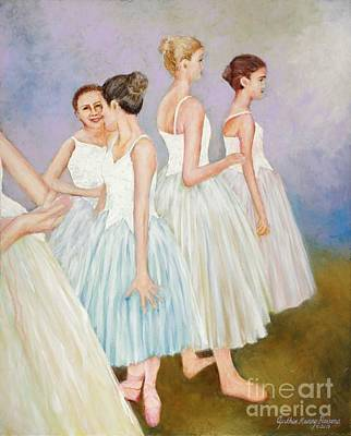 Art Print featuring the painting Rehearsal by Cynthia Parsons