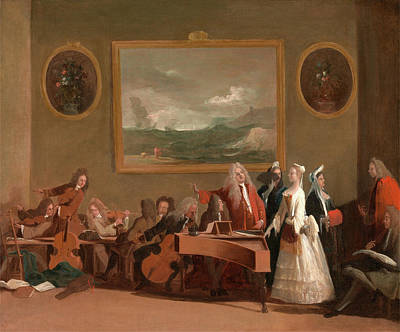 Double Bass Painting - Rehearsal Of An Opera, Marco Ricci, 1676-1729 by Litz Collection