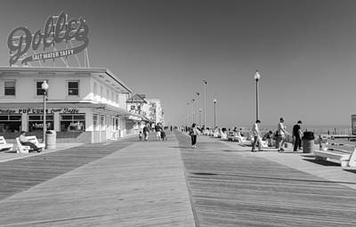 Rehoboth Beach Boardwalk Art Print