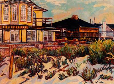 Painting - Rehoboth Beach Houses Again by Kendall Kessler