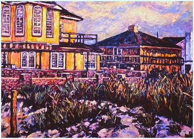 Painting - Rehoboth Beach Houses by Kendall Kessler