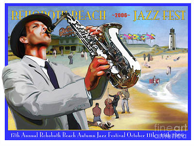 Digital Art - Rehoboth Beach Jazz Fest 2006 by Mike Massengale