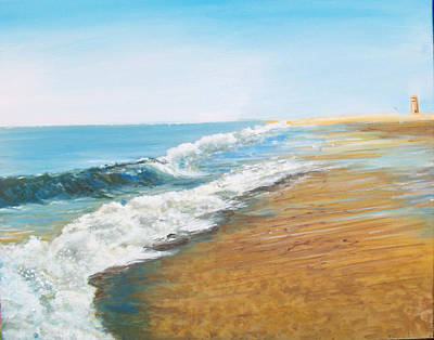 Painting - Rehoboth Beach Sunrise by Ronald Lightcap
