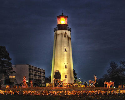 Photograph - Rehoboth Circle Christmas by Bill Swartwout