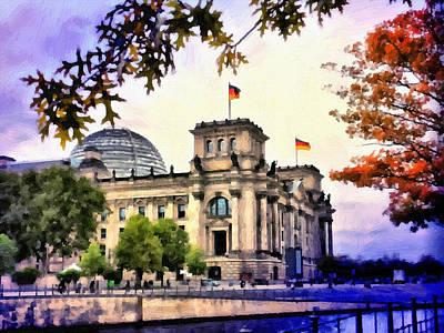 River Spree Painting - Reichstag In Mystic Light by Ralph van Och