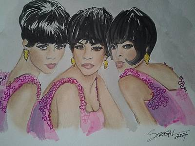 Diana Ross Painting - Reigning Supremes by Sonia Rodriguez