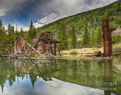 Photograph - Reiling Dredge Reflection  by Bitter Buffalo Photography
