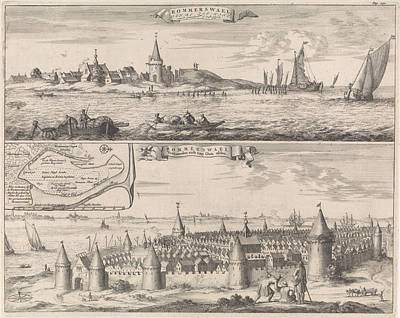 Reimerswaal In Past And Present Times, 1634 Art Print by Jan Luyken And Johannes Meertens And Abraham Van Someren