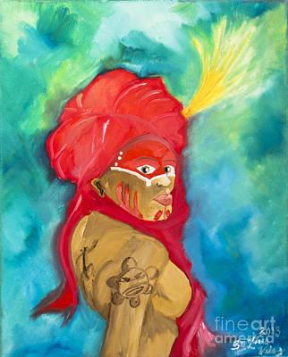 Latino Painting - Reina by Luis Velez