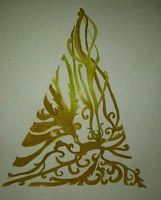 Phoenix Bird Drawing - Reindeer Antler Tree by ARTography by Pamela Smale Williams