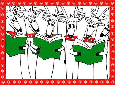 Painting - Reindeer Choir by Genevieve Esson