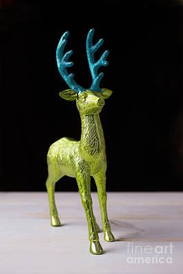 Reindeer Christmas Card Art Print by Edward Fielding