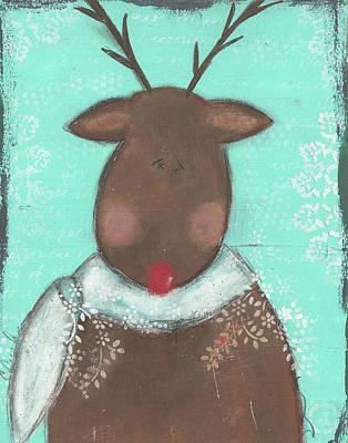 Reindeer Painting - Reindeer I by Cassandra Cushman