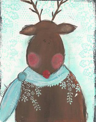 Reindeer Painting - Reindeer II by Cassandra Cushman