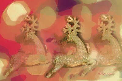 Photograph - Reindeer On Parade by Paulette B Wright