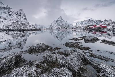 Cold Photograph - Reine by Raymond Hoffmann
