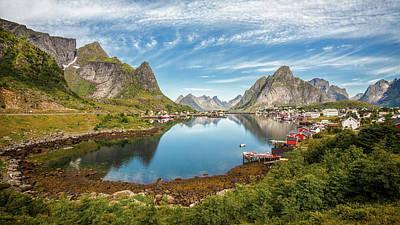 Water Reflections Photograph - Reine by Rickard Eriksson