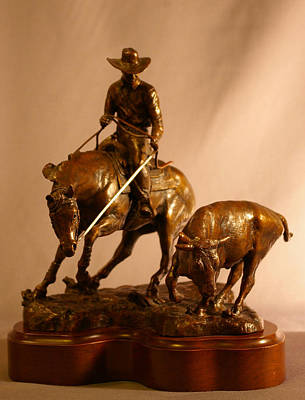 Reined Cowhorse Bronze Sculpture Original by Kim Corpany