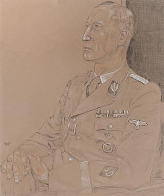 Reinhard Drawing - Reinhard Heydrich by Dennis Larson