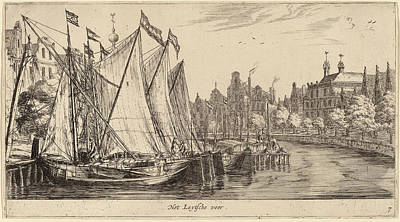Het Drawing - Reinier Zeeman Dutch, 1624 - 1664, The Ferry To Leiden Het by Quint Lox
