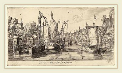 Het Drawing - Reinier Zeeman Dutch, 1624-1664, The Ferry To Utrecht Het by Litz Collection