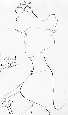 Nineteenth Century Drawing - Rejane by Marcel Proust