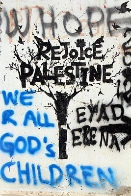 Photograph - Rejoice Palestine by Munir Alawi