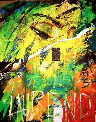 Painting - Relam Of An A by Laurend Doumba