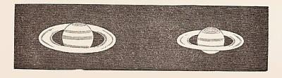 Relative Dimensions Of Saturn, 1858. January 30 Art Print