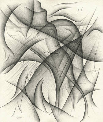 Drawing - Relative Divide by Michael Morgan