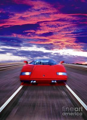 Photograph - Relative Motion Speed Velocity And Acceleration by David Zanzinger