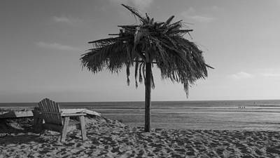 San Clemente State Beach Photograph - Relax At San Onofre - Old Mans - Black And White by Richard Cheski