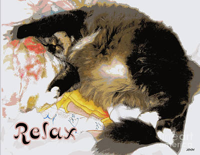 Relax Cat Art Print