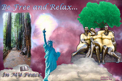Mixed Media - Relax In My Peace by Terry Wallace