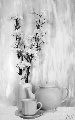 Relax With Tea Art Print by Marsha Heiken