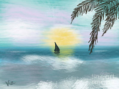 Painting - Relaxation by Judy Via-Wolff