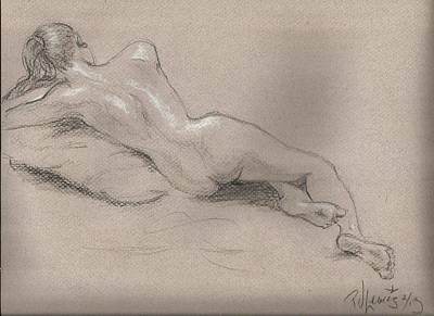 Relaxed Nude Original by P J Lewis