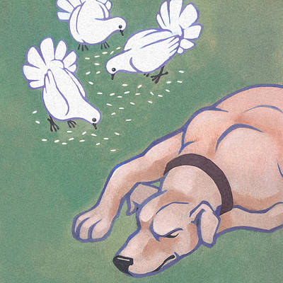 Mongrel Painting - Relaxed by Renu K